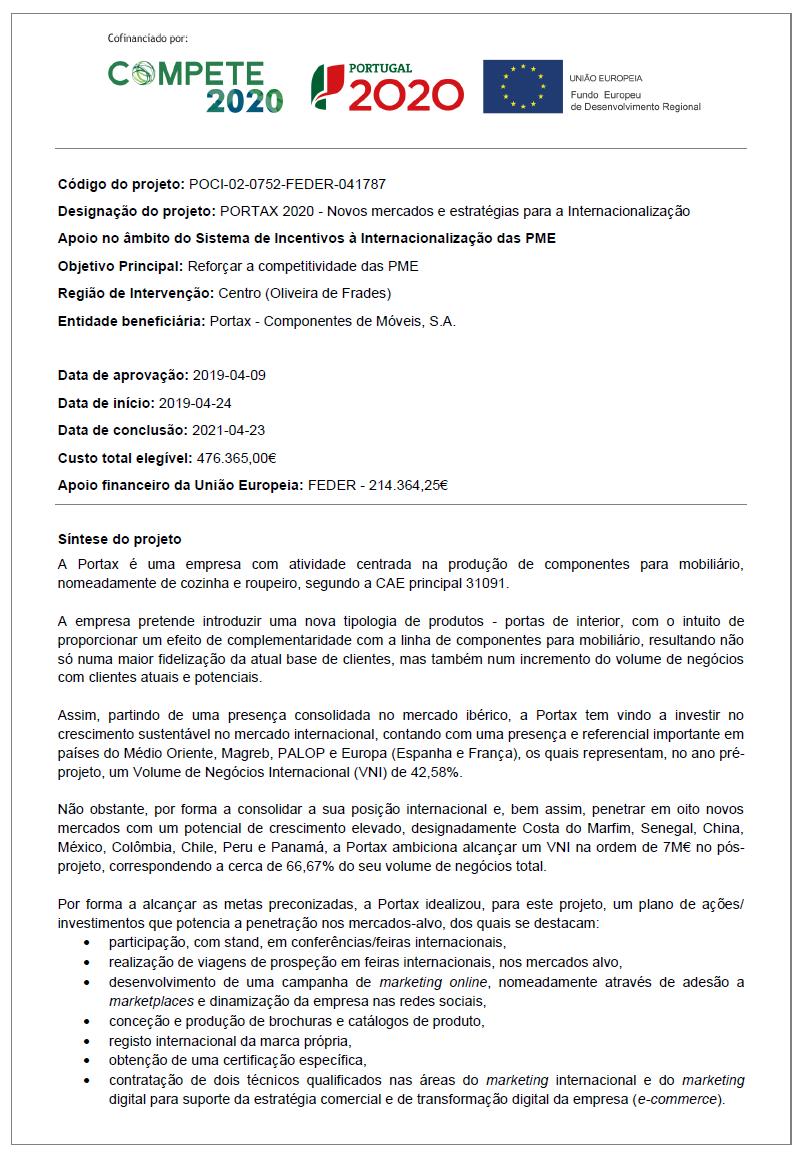 PORTAX - 42438 - Ficha de ProjetoSede