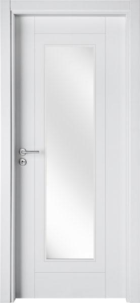 LA02V1 Branco / Porta de Vidro