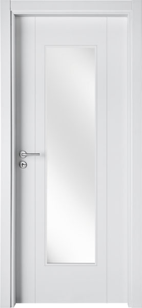 LA03V1 Branco / Porta de Vidro